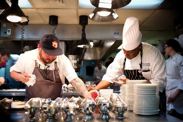 Sean Brock (left) and Kevin Mitchell (right)