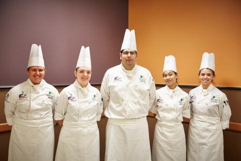 Pictured, left to right, are team members Ashley Hunt (alternate), Heather Goodenow, Felipe Padilla, Gabrielle Edrosa and Rocio Ramos (captain).