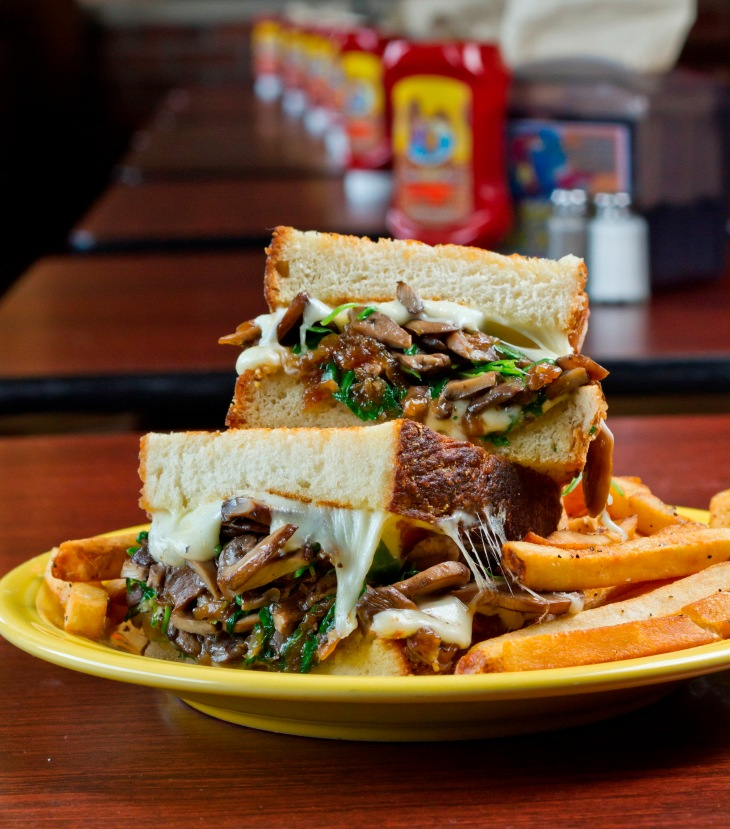The Mushroom Melt by Chef Matt Fish, Melt Bar & Grilled Photo by Chris Casella for the Wisconsin Milk Marketing Board