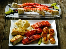 Grilling Alaska Seafood Group Shot King Crab Platter